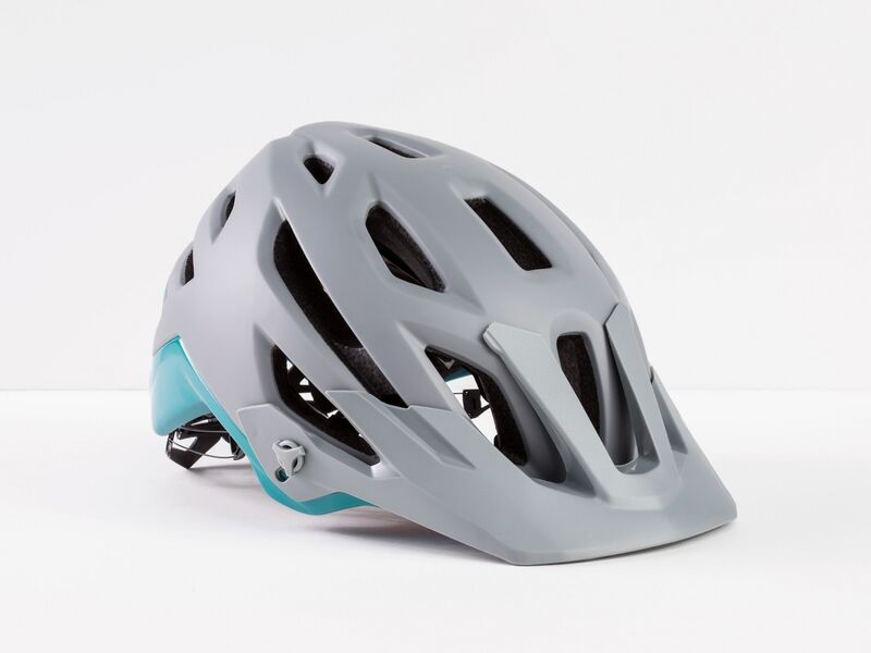 Bontrager Rally MIPS Gravel/Teal Ce click to zoom image