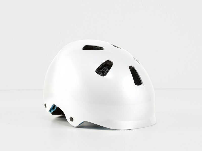 Bontrager Jet Wavecel Youth White/Azure Ce Youth (50-55 cm) click to zoom image