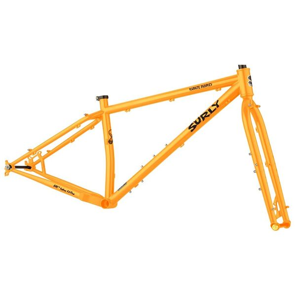 Surly Karate Monkey Frameset 29er Wheel, Butted 4130 Cr-Mo inc Cr-Mo Fork. 145 Dropouts Toxic Tangerine click to zoom image