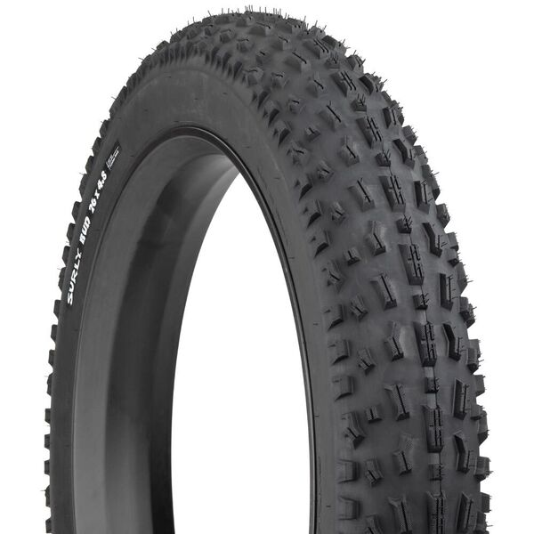 "Surly Bud 4.8 TLR Super Wide, Tubeless ready, Folding Bead, 120Tpi Casing, Trail Tread, Ideal for Front 26x4.8"" click to zoom image"
