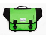 BROMPTON O BAG BROMPTON ORTLIEB, C/W REMOVABLE STRAP  APPLE GREEN & BLACK  click to zoom image