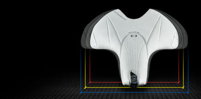 Different saddle widths and curvatures for maximum comfort.